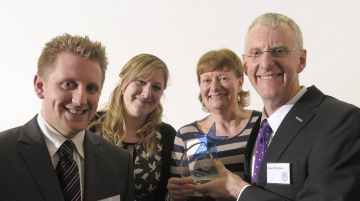 2014 Pride in Medway winners Roger and Janet Maddams with their son Rob and his fiance Anna
