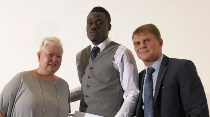 Sponsors award, University of Kent - Toks Adefuye